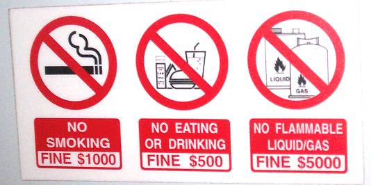 the strict rules about drinking and smoking in school